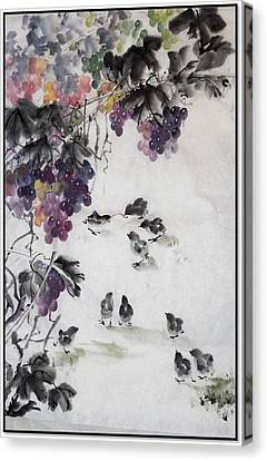 Canvas Print featuring the painting Tug Of War by Ping Yan