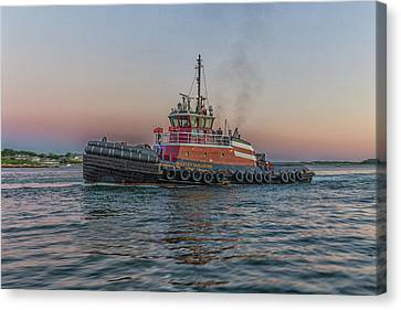 Tugboat Buckley Mcallister At Sunset Canvas Print