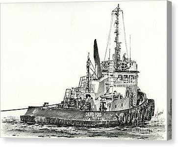 Tugboat David Foss Canvas Print by James Williamson