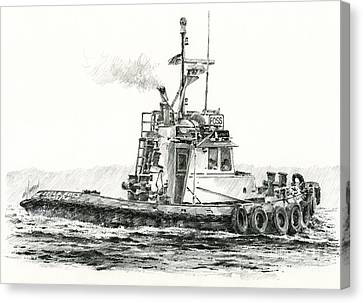 Tugboat Kelly Foss Canvas Print by James Williamson