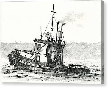 Tugboat Lela Foss Canvas Print by James Williamson