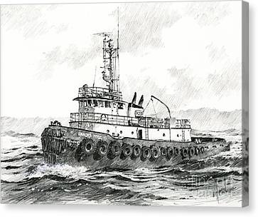Tugboat Sandra Foss Canvas Print