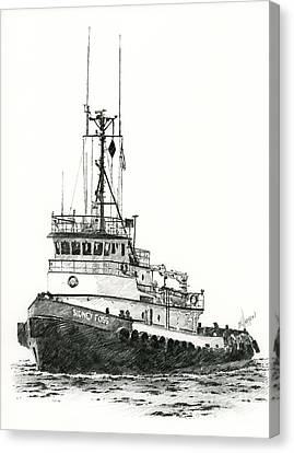 Tugboat Sidney Foss Canvas Print by James Williamson