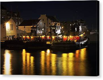 Prime Canvas Print - Tugboats At Night by Eric Gendron