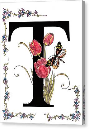 Tulip And Tiger Pierid Butterfly Canvas Print
