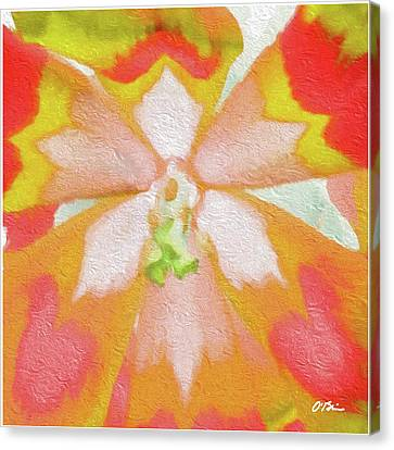 The Nature Center Canvas Print - Tulip Centricity Love Abstract by Claudia O'Brien