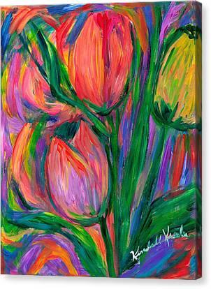 Tulip Edge Canvas Print by Kendall Kessler