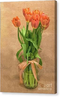 Tulip Impasto Canvas Print