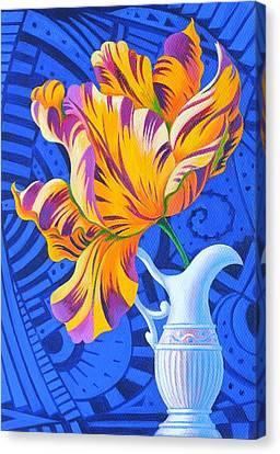 Tulip Canvas Print by Jane Tattersfield
