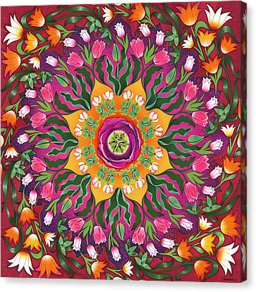 Tulip Mania 2 Canvas Print by Isobel  Brook Haslam