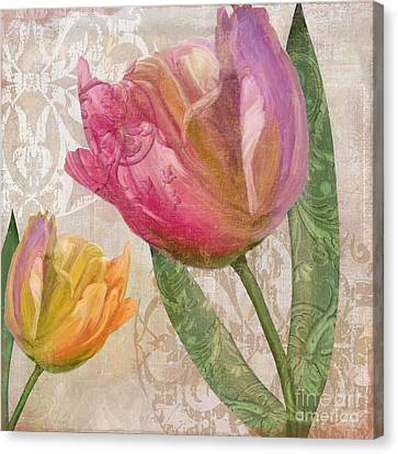 Tulip Tempest II Canvas Print by Mindy Sommers
