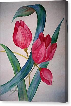 Tulip Tulip Canvas Print by Cary Singewald