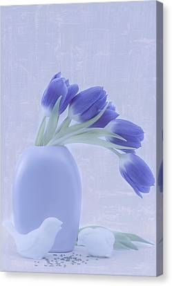 Tulips And Birdies  Canvas Print