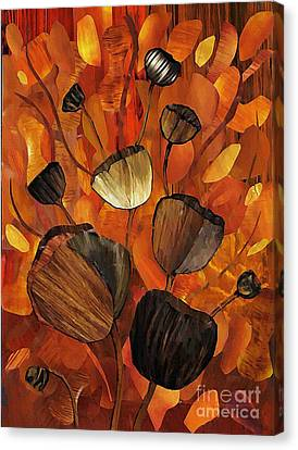Tulips And Violins Canvas Print by Sarah Loft