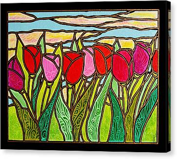 Tulips At Sunrise Canvas Print