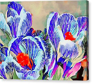 Tulips Blue Canvas Print