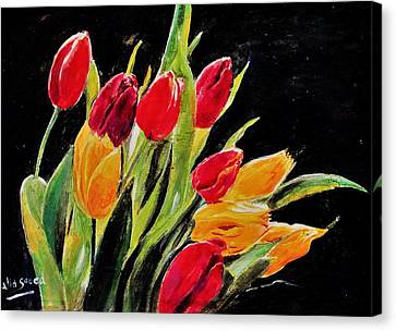 Tulips Colors Canvas Print