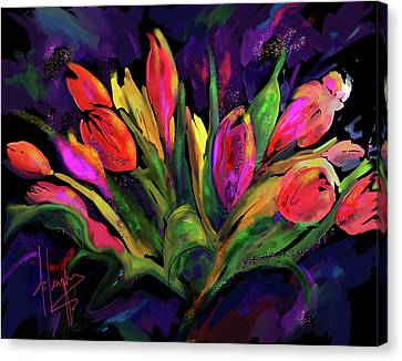 Tulips Canvas Print by DC Langer