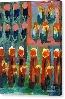 Canvas Print featuring the painting Tulips by Jan Daniels