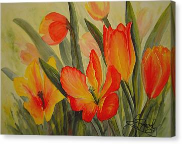 Tulips Canvas Print by Joanne Smoley