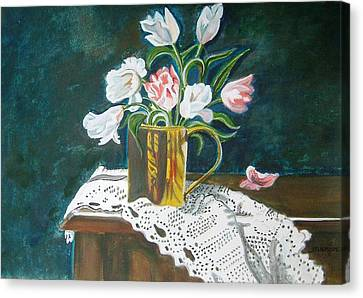 Tulips Canvas Print by Manjiri Kanvinde