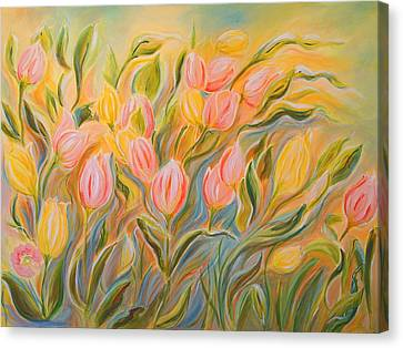 Tulips Canvas Print by Theresa Marie Johnson