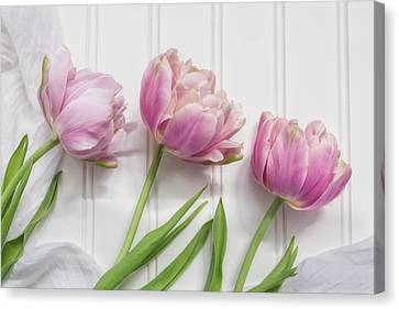 Canvas Print featuring the photograph Tulips Three by Kim Hojnacki