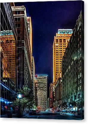 Tulsa Nightlife Canvas Print by Tamyra Ayles