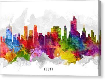 Tulsa Oklahoma Cityscape 13 Canvas Print by Aged Pixel