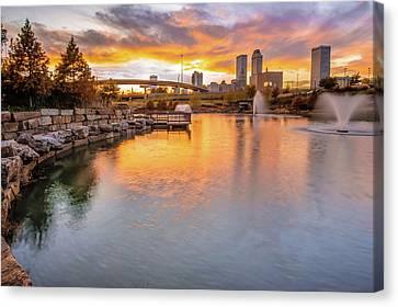 Tulsa Skyline Sunset - Oklahoma Cityscape Canvas Print by Gregory Ballos