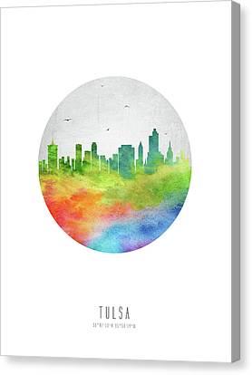Tulsa Skyline Usoktu20 Canvas Print