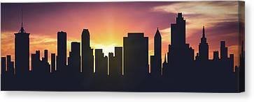 Tulsa Sunset Usoktu-pa01 Canvas Print
