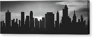 Tulsa Sunset Usoktu-pa02 Canvas Print