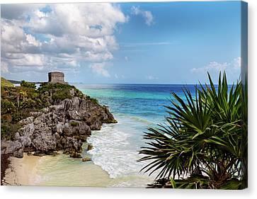 Tulum Mayan Ruins - 36x24 Promo Canvas Print by Michael Evans