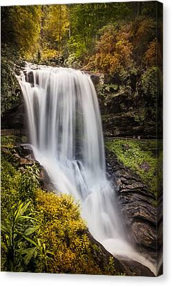 Tumbling Waters At Dry Falls Canvas Print by Debra and Dave Vanderlaan