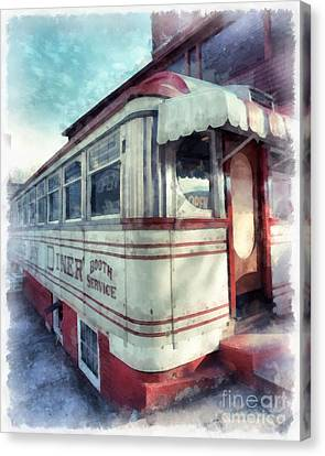 Tumble Inn Diner Claremont New Hampshire Canvas Print by Edward Fielding