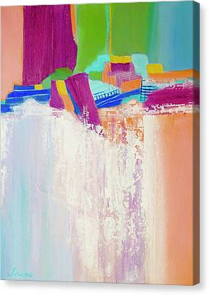 Canvas Print featuring the painting Tumbling Waters by Irene Hurdle