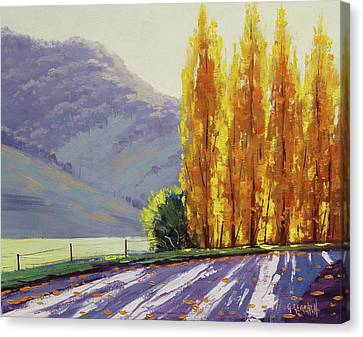 Tumut Autumn Poplars Canvas Print
