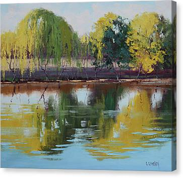 River Scenes Canvas Print - Tumut Reflections by Graham Gercken