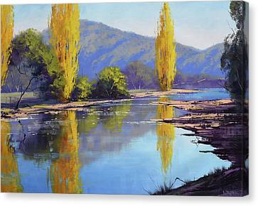 Tumut River Poplars Canvas Print