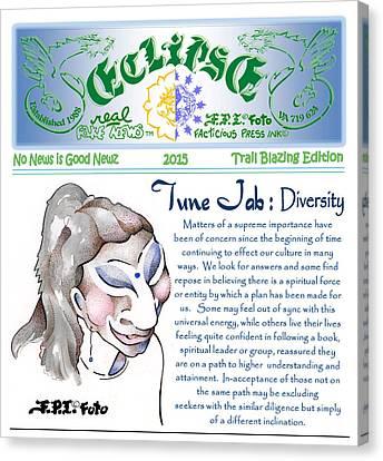 Real Fake News Spiritual Columnist 1 Canvas Print