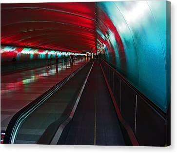 Tunnel Of Light Canvas Print by Elizabeth Hoskinson