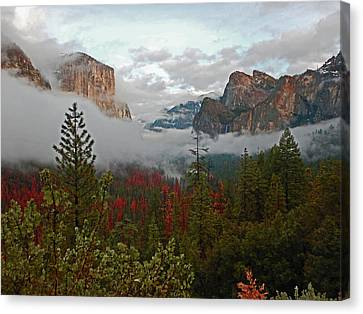Canvas Print featuring the photograph Tunnel View 12 2016 by Walter Fahmy
