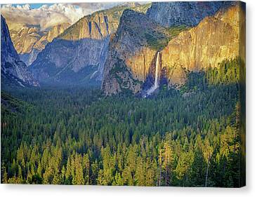 Tunnel View At Sunset Canvas Print by Rick Berk