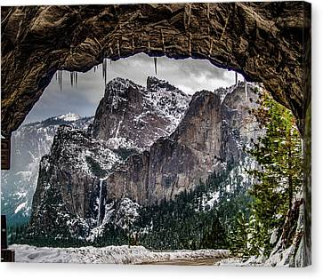 Tunnel View From The Tunnel Canvas Print by Bill Gallagher