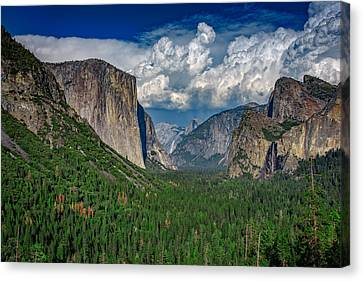 Tunnel View In Springtime Canvas Print by Rick Berk