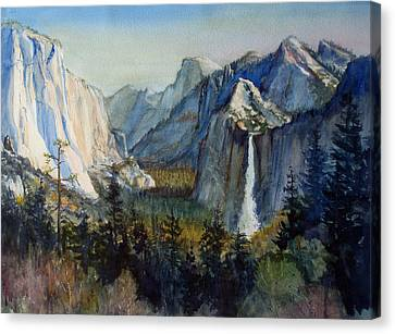 Tunnel View Yosemite Valley Canvas Print by Howard Luke Lucas