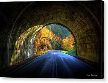Tunnel Vision Blue Ridge Parkway Art Canvas Print