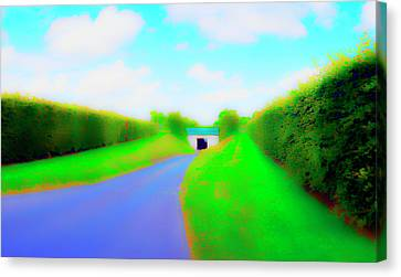 Tunnell On The  Thames Canvas Print by Jan W Faul