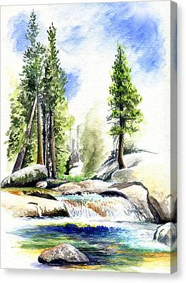 Tuolumne River On An August Afternoon Canvas Print by Logan Parsons